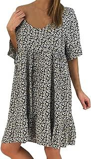 Londony Casual Plus Size Dress, Women Bohemian Neck Tie Vintage Printed Ethnic Style Summer Shift Dress Black