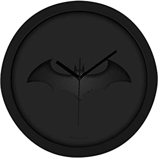 "Batman Wanduhr – ""Bat-Logo"" in Carbon-Optik – 0122044 Reloj de Pared, Negro, 28.0 x 28.0 x 4.5 cm"