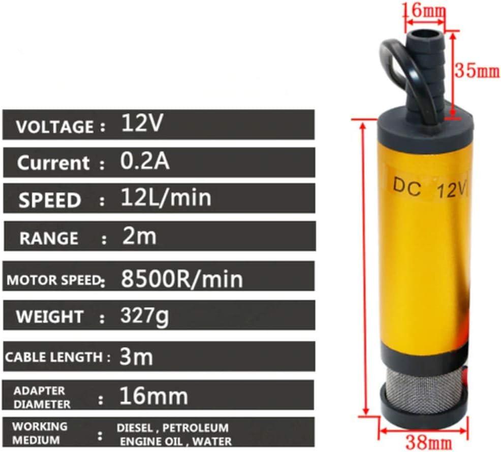 Multifunktionale elektrische /Ölpumpe elektrische 12-V // 24-V-Dieselkraftstoff-Transferpumpe mit Filter 12V protable Diesel-Wasserpumpe mit 38 mm Durchmesser f/ür Automotive Farm Marina