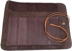 BESTONZON Chef Knife Roll Bag Carving Leather Pocket Knives Bag Storage Organizer