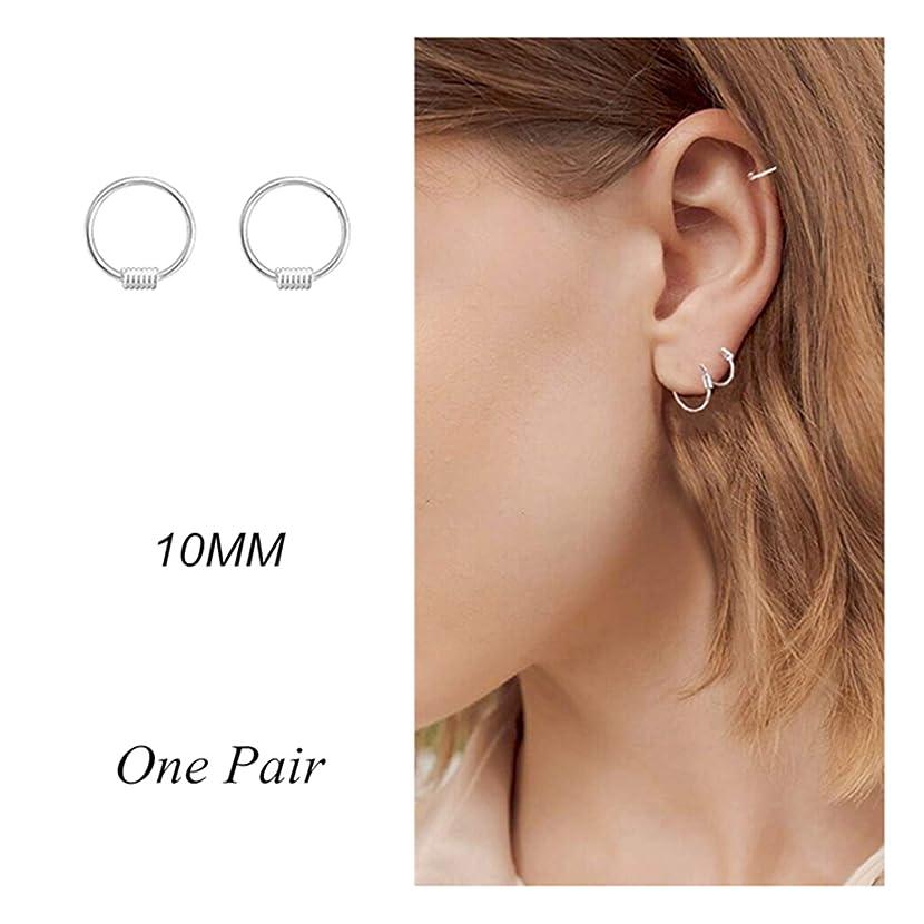 Small Hoop Earrings for Women Sterling Silver Endless Earrings 22g Cartilage Earring Mens Earrings Piercing Earrings