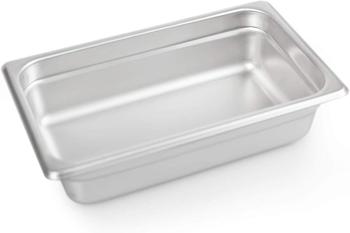2 1 2 Deep Steam Table Pan 1 4 Size 1 8 Quart Stainless Steel Anti Jam Standard Weight Hotel GN Food Pans NSF 10 83 L X 6 77 W
