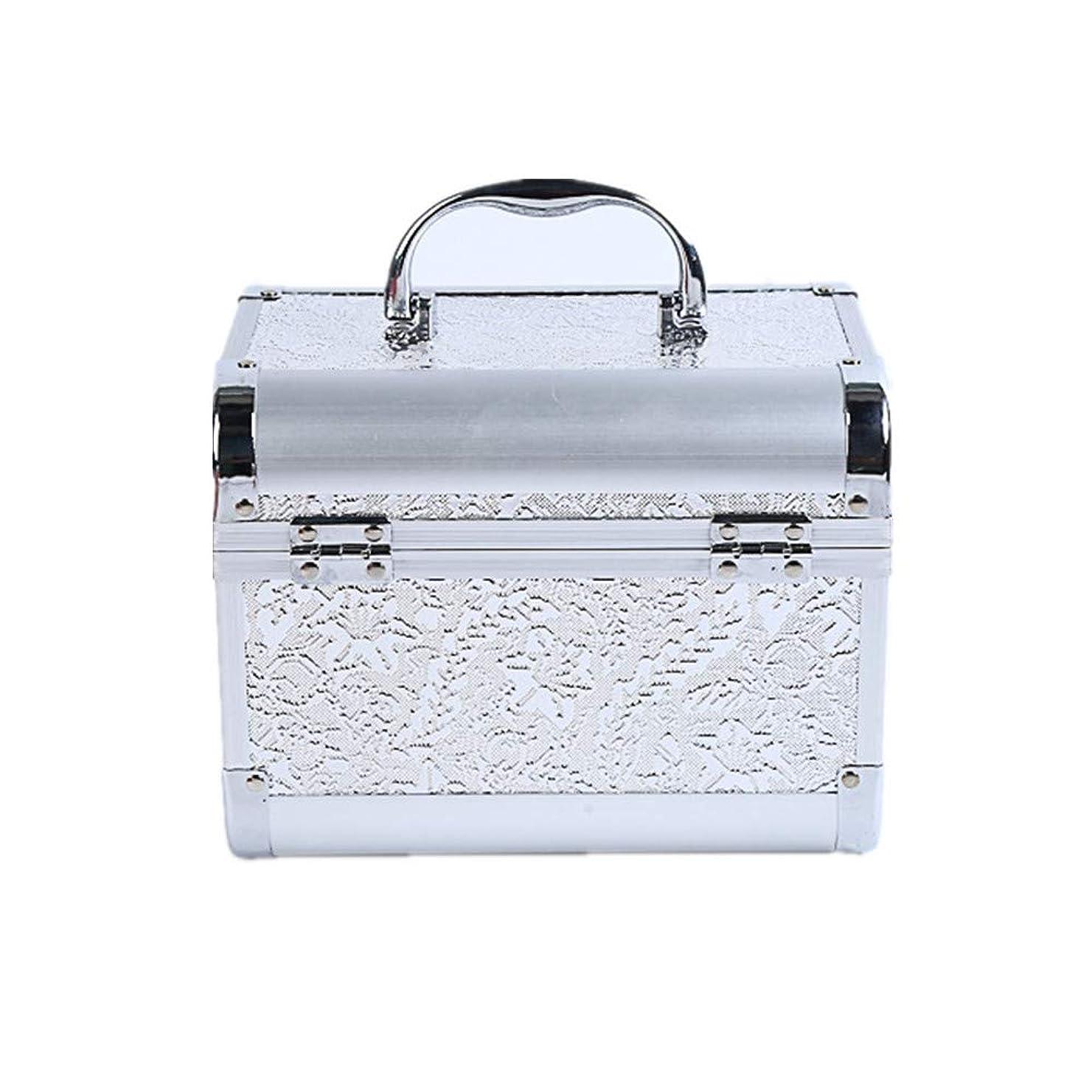 ハロウィン海軍アスリート化粧オーガナイザーバッグ コード化されたロックと化粧鏡で小さなものの種類の旅行のための美容メイクアップのための白い化粧ケース 化粧品ケース
