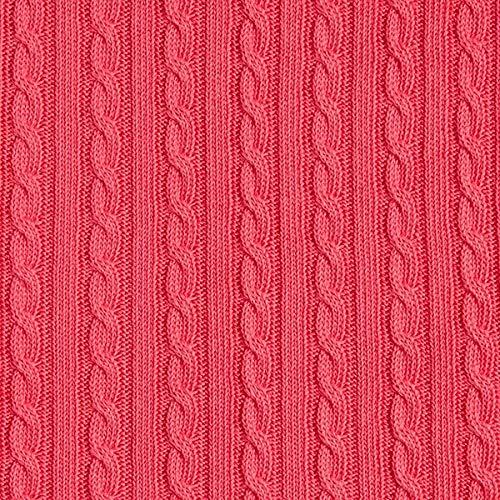 Fabulous Fabrics Check Point Knitty Plait No.2 Grobstrick GOTS – pink   Hamburger Liebe — Meterware ab 0,5m — GOTS - Global Organic Textile Standard — zum Nähen von Strickjacken, Pullover und Kleider