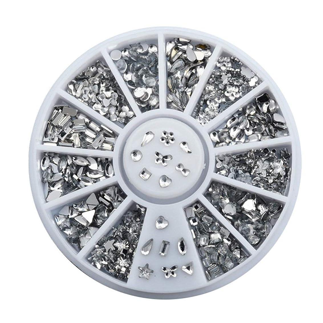 指気体の販売員HAPPY HOME ネイルアートの装飾のヒント12デザイン光沢のあるabアクリル弓水滴diyグリッターホイールツール
