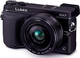 パナソニック ミラーレス一眼カメラ ルミックス GX7 レンズキット 単焦点レンズ付属 ブラック DMC-GX7C-K