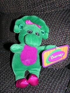"BARNEY Plush 8"" Baby Bop Bean Bag Doll from The Dinosaur"