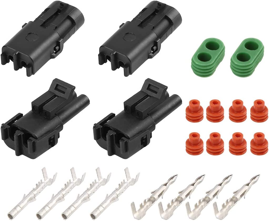 Financial sales sale X AUTOHAUX 2 Pins Way Termin Car Electrical Waterproof San Antonio Mall Connector