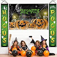 Set of 3 Hocus Pocus Halloween Porch Decor Large Banners