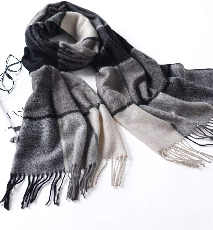 Men and Women, Plaid Blanket Scarf Shawl and Wrapped Lady Scarf, Long Warm Tartan Striped Scarf