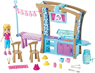 Polly Pocket Backyard Barbeque Playset with 3-inch Polly Doll & Accessories