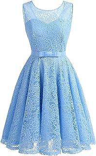 Hellblaues kleid mit punkten