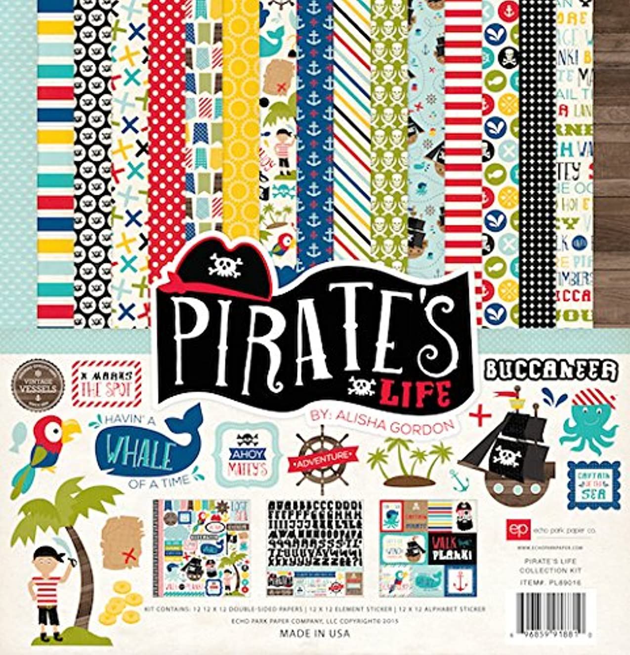 Echo Park Paper Company PL89016 Pirate's Life Collection Kit Paper Pad
