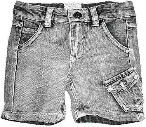 Papagino Jeansshorts Bermuda Kurze Hose Shorts Jeans für Kleinkinder Gr. 74 grau
