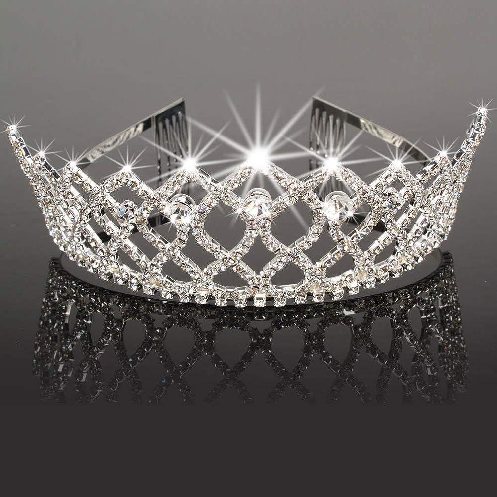 Crazy K&A Rhinestone Tiara Crystal Wedding Bridal Princess Crown Hair Comb Hair Jewelry for Women Girls