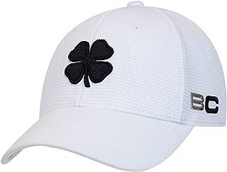 BLACK CLOVER Black/White/White Iron #1 Premium Fitted Hat
