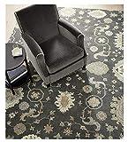 Crate and Barrel Juno Gray Traditional Persian Handmade 100% Wool Rugs & Carpets (5x8)
