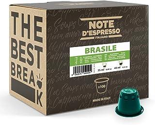 Note d'Espresso - Brasile - Capsules de Café - Exclusivement Compatible avec Machine NESPRESSO* - 100 x 5,6 g