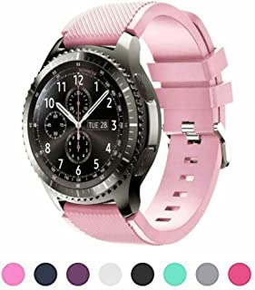Midenso Bands for Gear S3 Frontier/Classic Watch Silicone Bracelet, Sports Silicone Band Strap Replacement Wristband for Samsung Gear S3 Frontier / S3 Classic, Large (US Version)