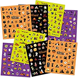 Halloween Stickers for Kids 400 Assortment Stickers for Party Favors Treats Classroom Crafts 8 Sheets
