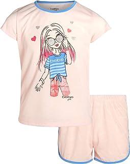 bebe Girls Summer Pajamas Sleepwear Short Sleeve T-Shirt Short Set