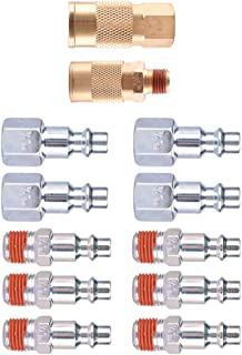 WYNNsky Air Coupler and Plug Kit, Quick Connect Air Fittings, 12 Piece 1/4