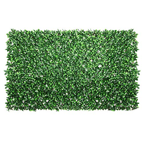 ColourTree Gardenia Expandable Retractable Hedge Leaf Faux Artificial Ivy Trellis Fence Screen Privacy Screen Wall Screen - Commercial Grade 150 GSM - Heavy Duty - 3 Years Warranty