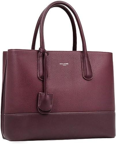 David Jones - Bolso de Mano Grande Mujer - Shopper Tote Bag Señora Trabajo Negocios Cuero Genuino PU - Bolsos Hombro ...