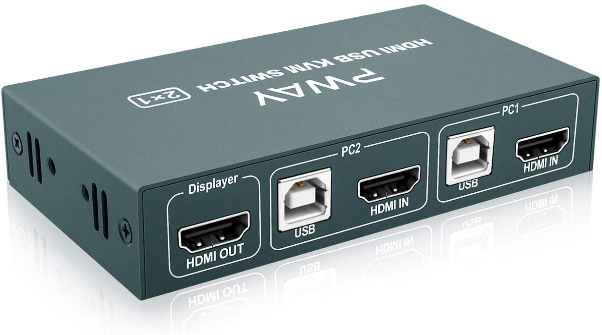 KVM Switch HDMI 2 Port Gorgeous Box 1080 4K@30Hz Hotkey 3D UHD Ranking integrated 1st place