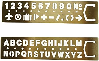 Best small metal letter stencils Reviews