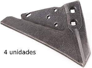 Reja arado binadora de acero al boro 8 mm con nervio (4, Tamaño real)