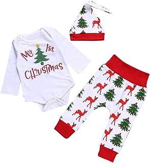 a20b2ea3d34917 Lylita 3pcs Natale neonato bambini bambine abiti abiti Romper Top +  Pantaloni lunghi + set di