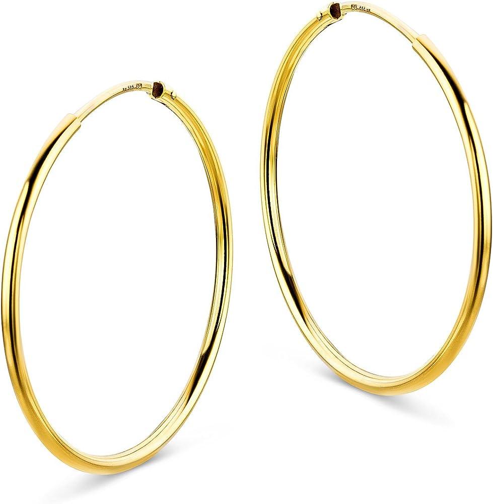 Miore schmuck  orecchini a cerchio per donna, in oro giallo 14 carati / 585 (1,5 gr) MB4016E