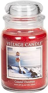 Village Candle Coastal Christmas 26 oz Glass Jar Scented Candle, Large