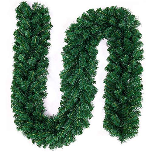 MIAOXIAO Christmas Garland Decorations Artificial Xmas Wreath Greenery Garlands Decor for Xmas Tree Stairs Doors Fireplaces Garden Yard,2.7m280 head