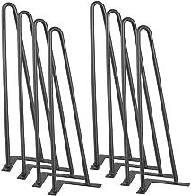 Yaheetech 8 x tafelpoten haarspeld meubelbeen hairpin legs met dubbele staaf meubelpoten met schroeven DIY