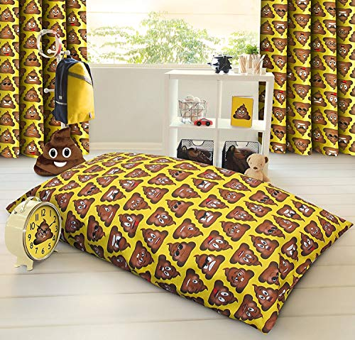 HBS Ltd Expressions Poo Large Pillow Floor Cushion Poo Cute Smiley Emoticons Faces/Expressions/Novelty Cushion Filled (Small Floor Cushion)