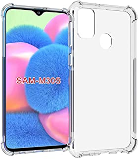 Amazon Brand - Solimo Mobile Cover (Soft & Flexible Back case) for Samsung Galaxy M30s (Transparent)