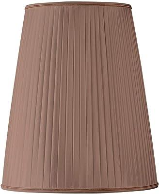 Pantalla para lámpara pantalla plisada pince-flamme diámetro 10 (plisada mano) concha rosa: Amazon.es: Iluminación