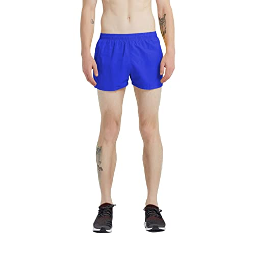 Gold Retro Running Shorts with Maroon Trim Medium