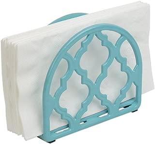 Home Basics Lattice Collection Cast Iron Napkin Holder (Turquoise)