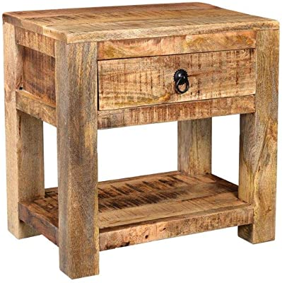 Timbergirl Surat Solid Wood, Small side table, Brown
