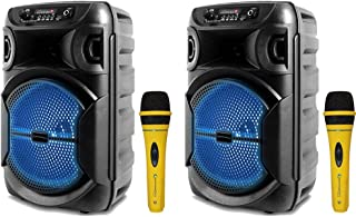 $119 » Sponsored Ad - Technical Pro 8 Inch Portable 1000 watts Bluetooth Speaker with Woofer & Professional Portable Microphone w...