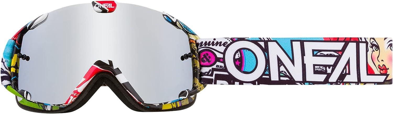 O'Neal   Gafas de Motocross   MX MTB DH FR Downhill Freeride   Correa ajustable, comodidad óptima, ventilación perfecta   Gafas B-30 Crank   Unisex   Negro Multi Mirrored   OneSize