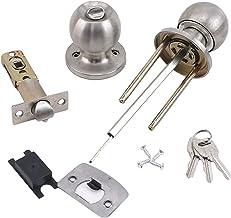 Deurslot Roestvrij Round Deurknoppen Rotatie Lock Knobset Handvat Roestvrijstalen Deurknop Met Sleutel voor Slaapkamers Wo...