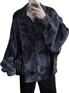 [MLboss]シャツ メンズ 長袖 ゆったり 総柄 ワイシャツ ファッション 着痩せ 韓国 開襟シャツ 着痩せ ストリート 長袖シャツ ポロネック カジュアル 通勤 夏服 トップス