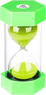 Sand Timer 30 Minute Hourglass Timer, Plastic Sand Clock 30 minutes, Big Green Sand Watch 30 Min, Hour Glass Colored Sandg...