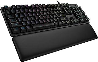 Logitech G513 Teclado Gaming Mecánico con Reposamanos, RGB LIGHTSYNC, Teclas GX-Táctil Marrón, Aleación de Aluminio, Tecla...
