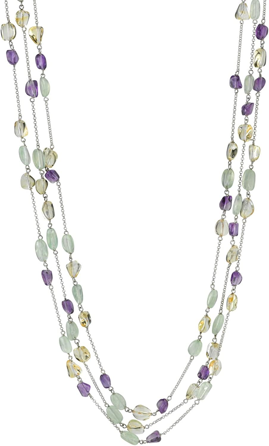 THE PEARL SOURCE Branded goods Free Shipping New Designer Gemstone Length in Opera 34