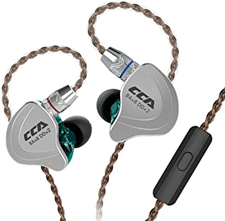HiFi 4BA 1DD Five Drivers Hybrid In Ear earphones, CCA C10 in Ear Headphones High Resolution High Resolution with Detachable Cable 2pin 0.75mm Gold Plated Detachable Cable